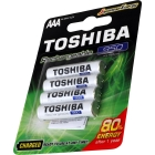 PILHA RECARREGAVEL TOSHIBA AAA 950MAH CARTELA C/ 4 UNDS
