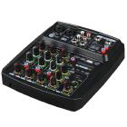MESA DE SOM MIXER 4 CANAIS  BT USB CUSTOM SOUND CMX4C AMARELO INTERFACE DE AUDIO