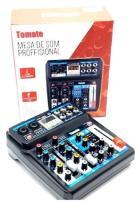 MESA SOM TOMATE 6 CANAIS USB/BT/EFEITO/PHANTOM 48V/REC USB TYT-006 MINI