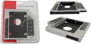 ADAPTADOR CADDY DVD PARA SEGUNDO HD OU SSD 2.5 9.5MM
