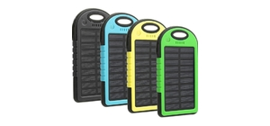 BATERIA EXTERNA POWER BANK 4800MAH SOLAR MK-03-0416