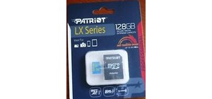 CARTAO DE MEMORIA MICRO SD 128 GB PATRIOT LX SERIES 85MB