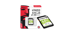 CARTAO DE MEMORIA SD 64GB CLASSE 10 80MB KINGSTON CANVAS
