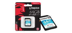 CARTAO DE MEMORIA SD KINGSTON 64GB CLASSE 10 CANVAS GO - 90MB