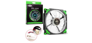 COOLER FAN 120MM VERDE COM LED DEX DX-12H