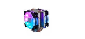 COOLER PARA PROCESSADOR DEX AMD/INTEL DUPLO FAN LED RGB DX-9107D