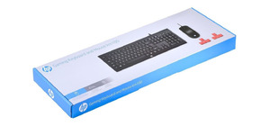 KIT MOUSE E TECLADO GAMER HP KM100 PRETO