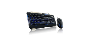 KIT TECLADO E MOUSE GAMER THERMALTAKE SPORTS COMMANDER LED AZUL SEMI-MECÂNICO KB-CMC-PLBLPB-01