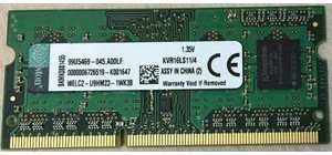 MEMORIA NOTEBOOK DDR3L 4GB 1600MHZ KINGSTON PROPRIETARIA 1.35V
