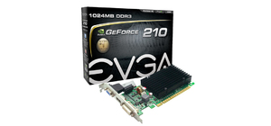 PLACA DE VIDEO 1GB EVGA GT210 64 BITS DDR3  PCIE P3-1313-KR