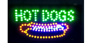 PLACA LED HOT DOGS