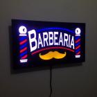 PLACA LED BARBEARIA EFEITO NEON