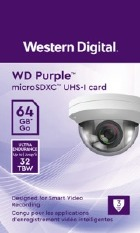 CARTAO DE MEMORIA MICRO SD 64GB WESTERN DIGITAL PURPLE SDXC