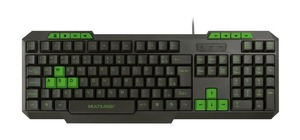 TECLADO GAMER USB- MULTIMIDIA SLIM VERDE MULTILASER TC243