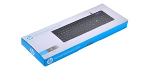 TECLADO GAMING LED AZUL HP K300